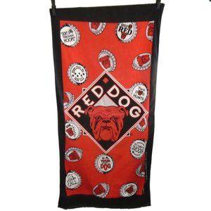 Red Dog Beer Towel Man Cave Wall Hang VTG1995